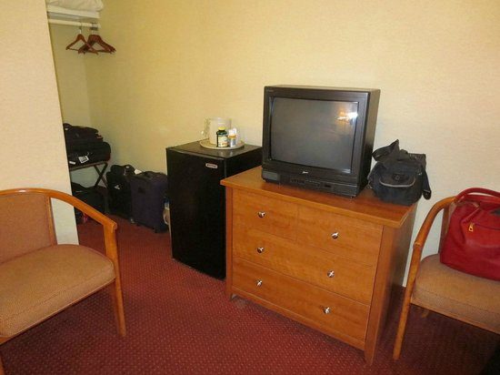 Flagship Inn: TV & fridge