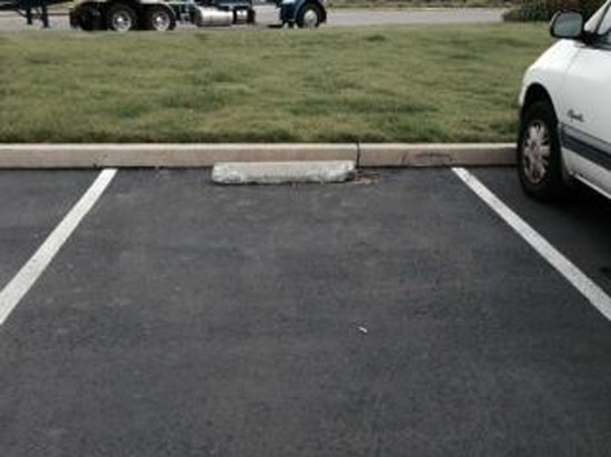 Ramada Limited Redding : Parking space next day-nothing done to alert patrons