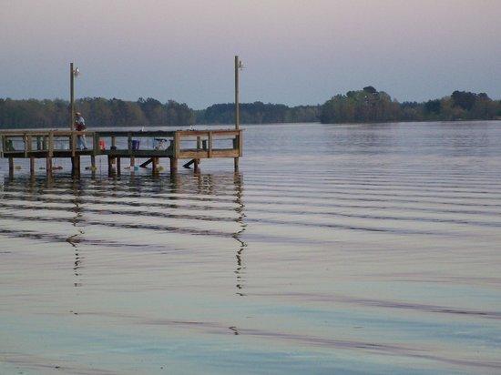 Taw Caw Campground & Marina : fishing pier