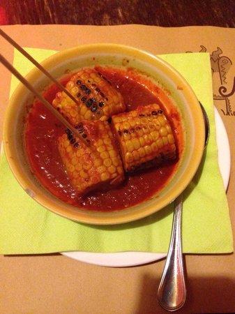 Mexi Cantina e Tacos: Antipasto: pannocchia al chilli! Squisita!