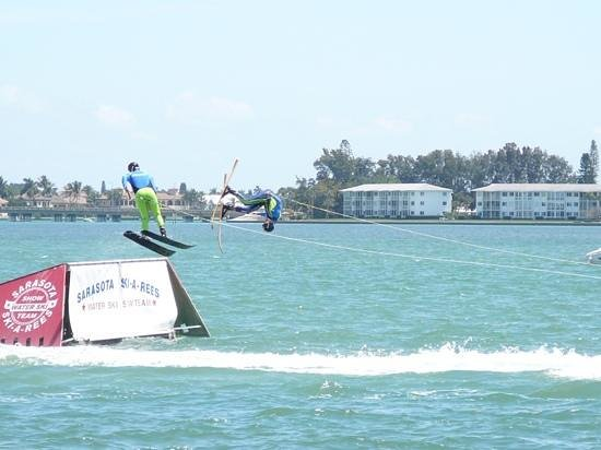 Sarasota Ski-A-Rees Water Ski Show: flips and jumps