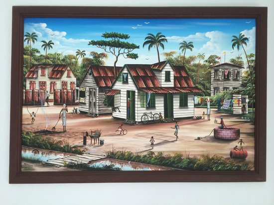 Guesthouse Amice: Original artwork with themes from Suriname