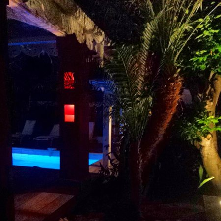 Salines Garden Cottages : My balcony at night