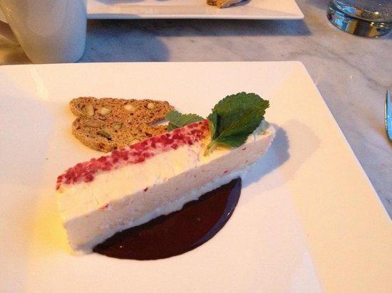 Pomodoro Trattoria & Wine Bar : Waupoos raspberry semifreddo