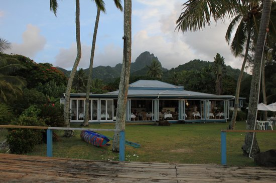 Tamarind House Restaurant from the beach side.