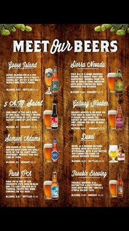 Blue Bar: Some of the beers
