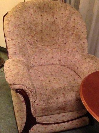 """Danubius Hotel Gellert: disgustingly dirty chair in """"superior room"""" #317 (Andrew Lloyd Weber room)"""