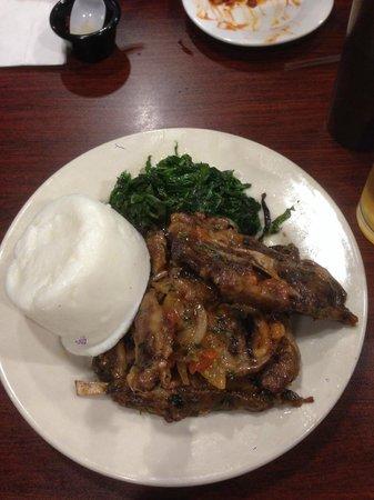 Swahili Village: goat dish