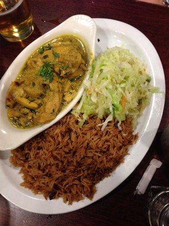 Swahili Village: Curry chicken and the best rice anywhere