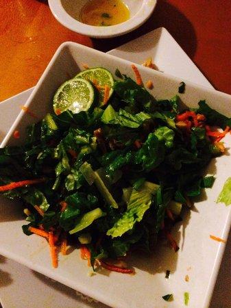 Red Flamboyan Restaurant: Esto es lo q te ofrecen por ensalada de carrucho. Nada de Scaramouch  This is conch salad. Let