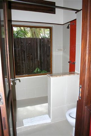 Ol Tukai Lodge: A shower with a view