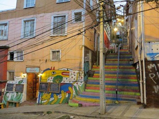Casa Volante Hostal: from the street