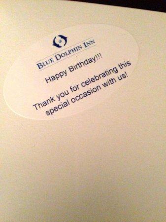 Blue Dolphin Inn: A kind, thoughtful gift from the Inn!