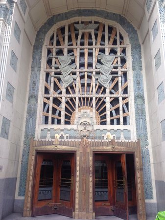 Marine Building: Front entrance