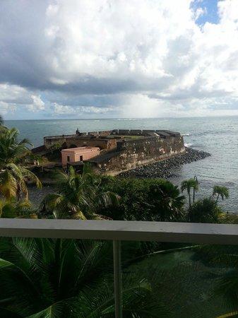 Caribe Hilton San Juan: View from balcony