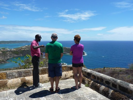 Scenic Tours Antigua: Jerome hard at work answering my brother's many questions