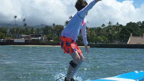 Kai Sallas' Pro Surf School Hawaii: Catching waves