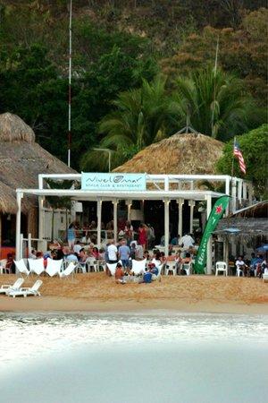 Nivel Mar Beach Club & Restaurant: Nivel Mar from a boat view.