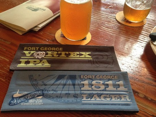 Fort George Brewery and Public House: Free beer slap coozies from one of the servers!