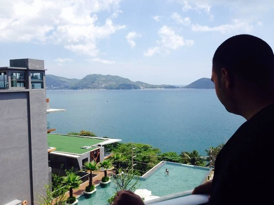 Kalima Resort & Spa: My husband looking out from our balcony.