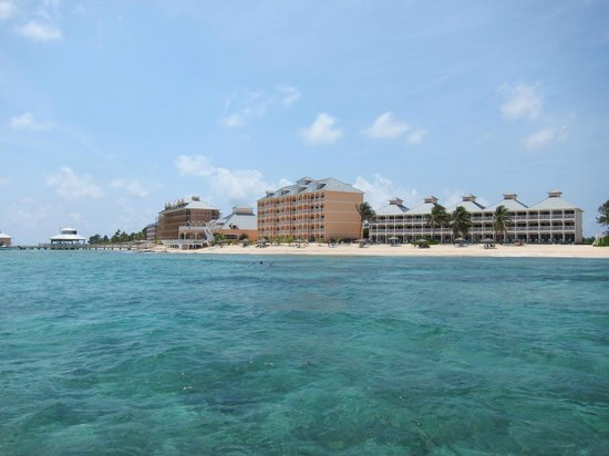 Morritts Tortuga Club and Resort : Morritt's and The Reef from the water