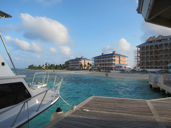 Morritts Tortuga Club and Resort : View from the dock - you can see the current construction