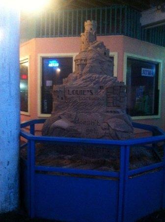 Louie's Backyard: Sandcastle