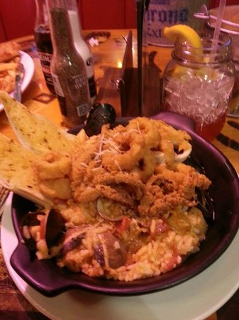 Joe's Crab Shack: Paella with 5 kinds of seafood