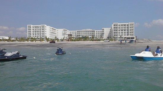 Hotel Riu Playa Blanca: on the ocean paddle boating