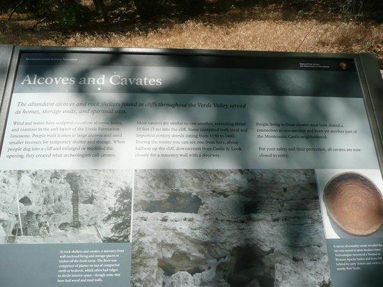 Montezuma Castle National Monument: information placards along path