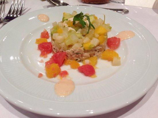 La Coupole : Chair de crabe et Salade d'agrumes