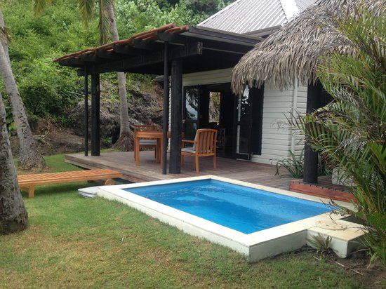 Matamanoa Island Resort : Villa patio and plunge pool