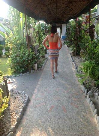 Sunset Bay Beach Resort: Walkway at day time