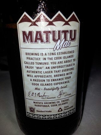 Matutu Brewery: Loved this one tried it last week