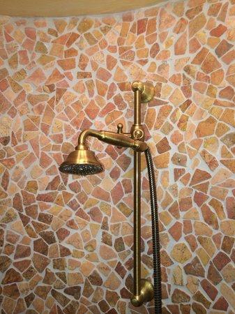 Hotel Villa Oriental : La douche oui, mais direction le mur seulement.
