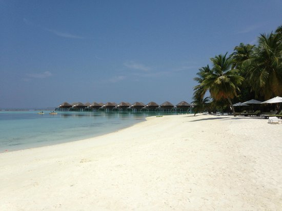 Vakarufalhi Island Resort: spiaggia fronte tramonto