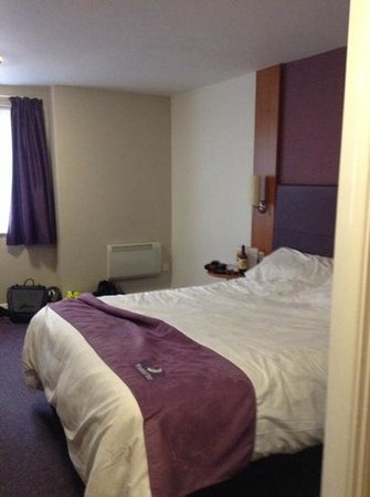Premier Inn Tamworth Central Hotel: our room on third day ,excuse our mess