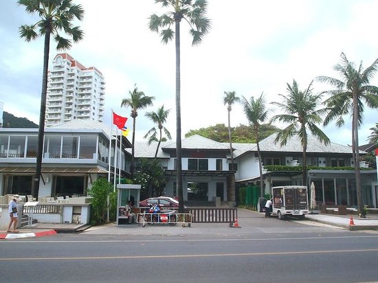Ramada Phuket Southsea: the hotel itself (hotel front + road) beach behind me.