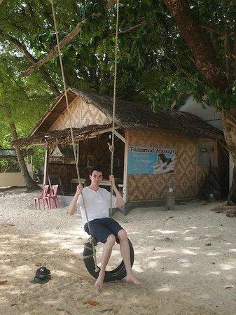 Cloud19 Beach Retreat : A small massage hut just outside of the beach