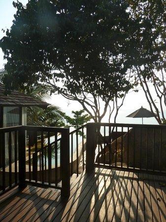 Silavadee Pool Spa Resort: Vue de la villa au lever du jour