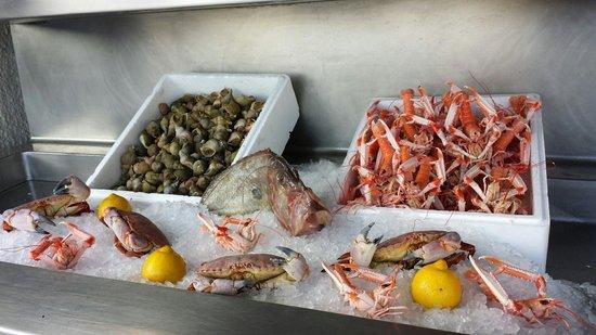 chez albert: Utsökta frukter från havet som väntar på att tillagas och serveras