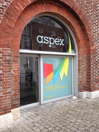 Aspex Gallery: Welcoming Entrance