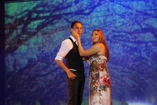 Seabel Rym Beach : tres beau show de autant en emporte le vent, show en francais composé par les animateurs t
