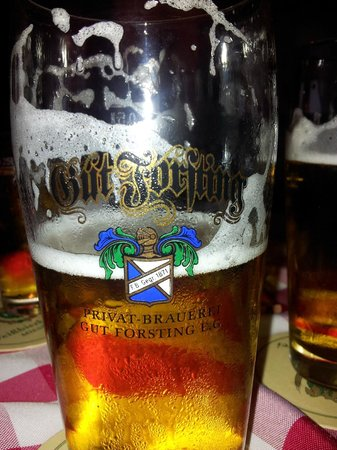 Brauerei Gasthof Forsting: One of many quality local brews.