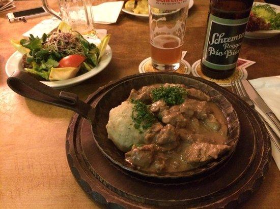 Austria Das Original: Gulash with salad