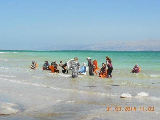 Kibbutz Ein Gedi : Strand mit arabischer Nutzung