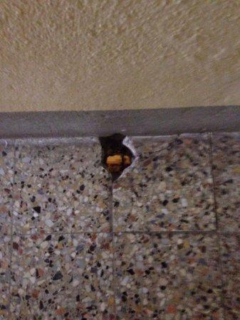 Pensione Villa Elena : Buco nel corridoio che si vede la stanza nel piano di sotto
