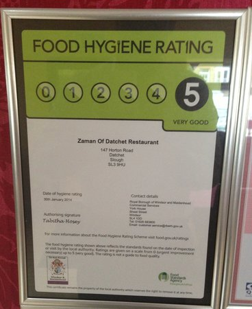 Zaman Of Datchet: Renewed to 5 again after recent inspections