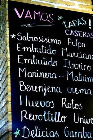 Restaurante Universal Pacoche: Nuestro tapeo