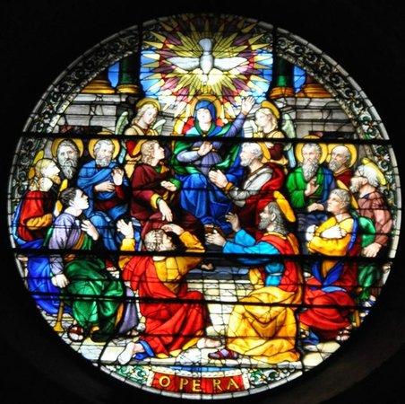 Duomo San Donato: Rosone di Guillaume de Marcillat